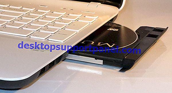 Jalan pintas untuk Keluarkan dan Tutup Pemacu CD / DVD di Windows