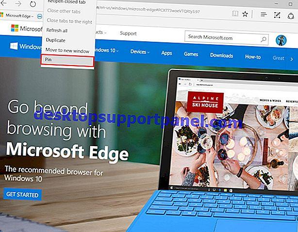 Internet Explorer에서 Microsoft Edge Tab 단추를 제거하는 방법?