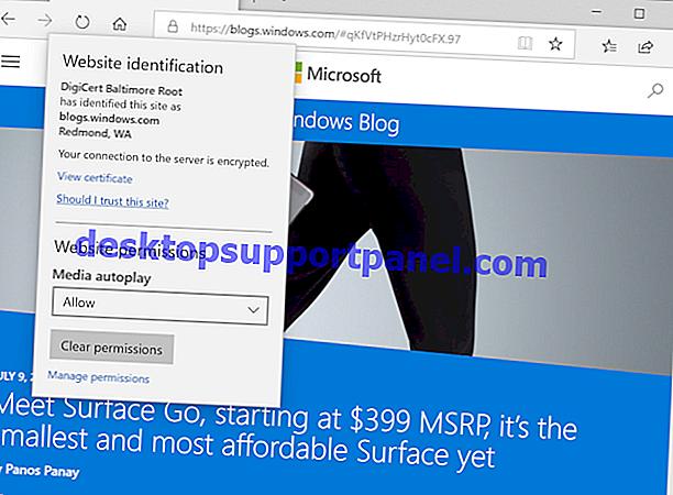 Microsoft Edge Mendapatkan Tab Pratonton Tab di Bahagian Atas