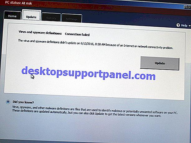 Cara Mengemas kini Definisi Keperluan Keselamatan Microsoft di Luar Talian