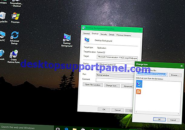 """Lägg till """"Inställningar"""" Cascading Context Menu på skrivbordet i Windows 10"""