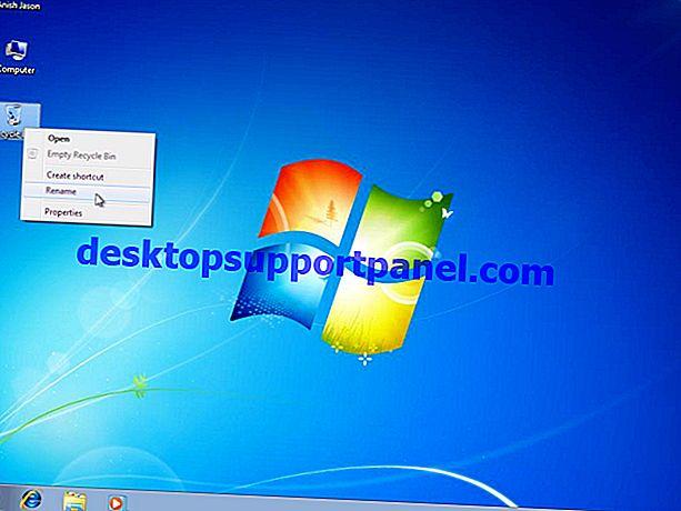 Hur man byter namn på papperskorgen i Windows