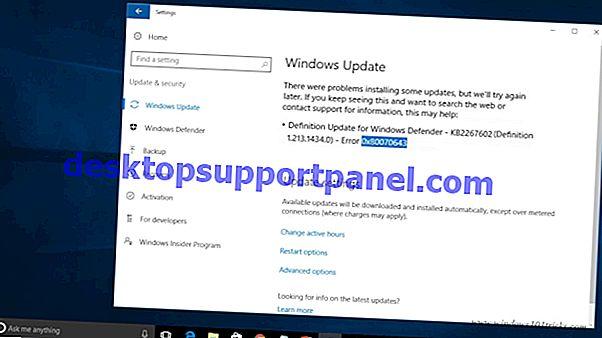 Kesalahan Windows 10 0x80070005 Saat Memasang Pembaruan Fitur