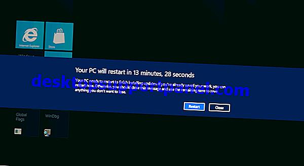 Windows 10에서 업데이트를 설치 한 후 자동 종료하는 방법