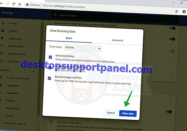 Fix: Google Chrome friert beim Löschen von Browserdaten ein