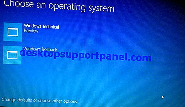 Effectuer une restauration de la restauration du système hors ligne dans Windows 10